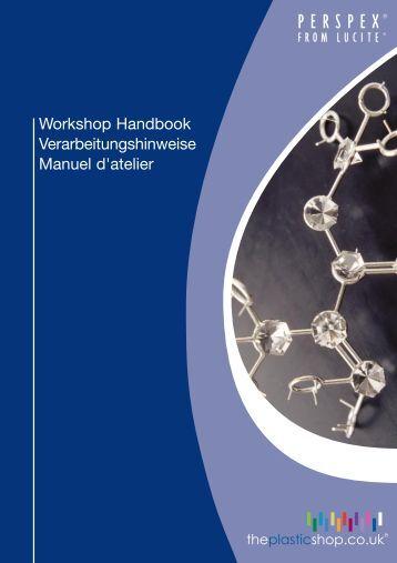 "Perspex Sheet - Workshop Manual ""Working with Perspex"" - Plastics"