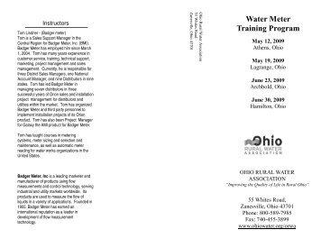 Water Meter Training Program - Ohio's Water Professionals