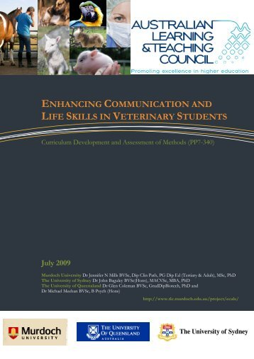 enhancing communication and life skills in veterinary students
