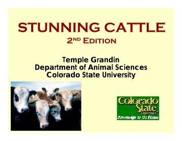 Non-Penetrating Captive Bolt - American Meat Institute