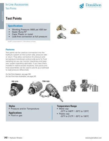 Test points -  Donaldson Company, Inc.