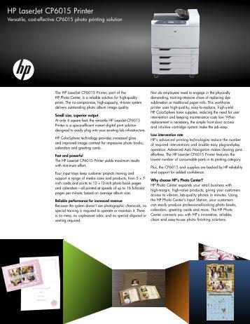 HP LaserJet CP6015 Printer - Hewlett Packard