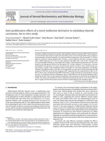 Anti-proliferative effects of a novel isoflavone derivative in medullary ...
