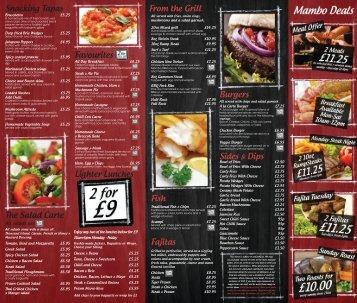 Menu - Cafe Mambo