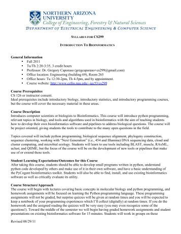 Course syllabus - J. Gregory Caporaso