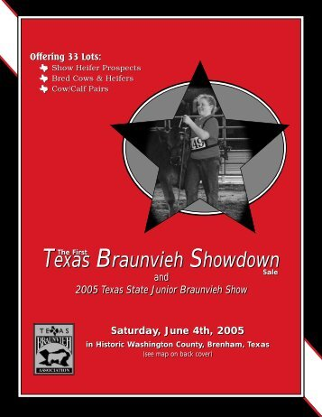 Texas BA Sale Cat 2 - Braunvieh Breed