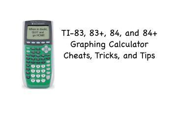 ti 83 graphing calculator manual