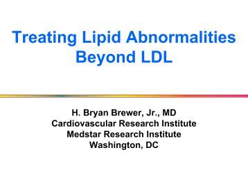 Treating Lipid Abnormalities Beyond LDL - Washington Hospital ...