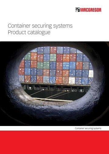 Container securing systems Product catalogue - Cargotec, Inc.