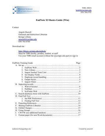 download endnote full version