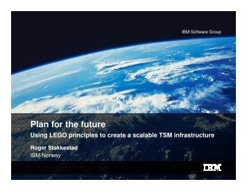 TSM TUG 2009 Plan For The Future - IBM
