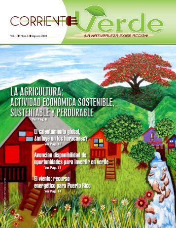 La AgricuLtura: Actividad Económica SostenibLe ... - Corriente Verde