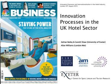 Innovation Processes in the UK Hotel Sector - (AIM) Research