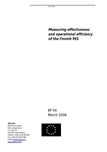 Measuring effectiveness and operational efficiency of the Finnish ...