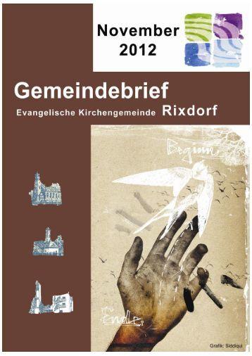 November 2012 - Ev. Kirchengemeinde Rixdorf