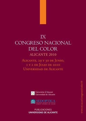 IX CONGRESO NACIONAL DEL COLOR - Publicaciones de la ...