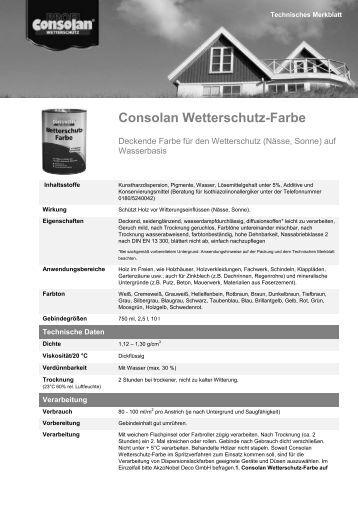 Consolan Wetterschutz-Farbe - Holzmarkt Bautzen GmbH