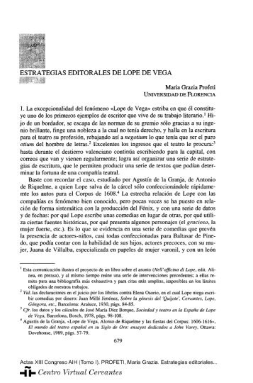 Estrategias editoriales de Lope de Vega