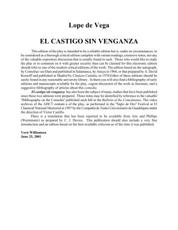 Lope de Vega EL CASTIGO SIN VENGANZA
