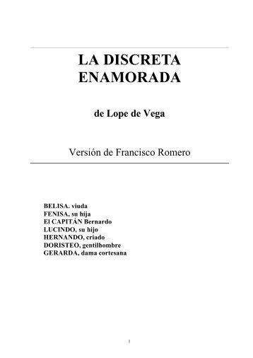 LA DISCRETA ENAMORADA de Lope de Vega - Ebaobab.com