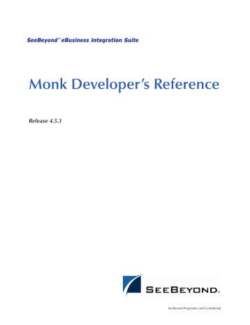 Monk Developer's Reference - Oracle