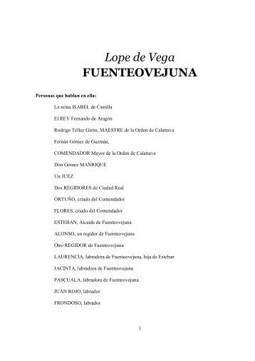 Lope de Vega FUENTEOVEJUNA