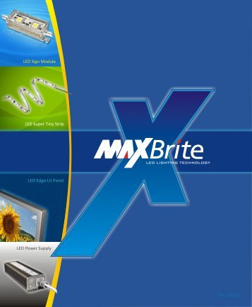 Download our company brochure - MaxBrite LED Lighting Technology