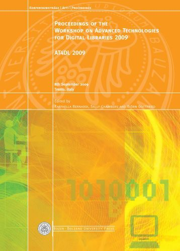 Proceedings of the Workshop on Advanced Technologies for Digital ...