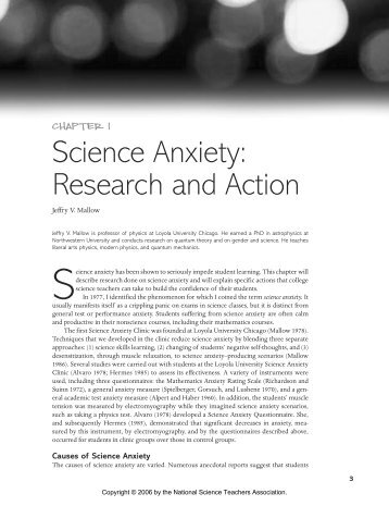 Science Anxiety: Research and Action - NSTA Learning Center ...