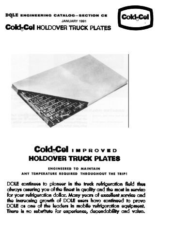 Cold5Cel HOLDOVER TRUCK PLATES - Dole Refrigerating Company