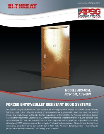 fe/br door system - American Physical Security Group
