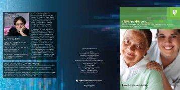 Discovery Genomics - Duke Clinical Research Institute