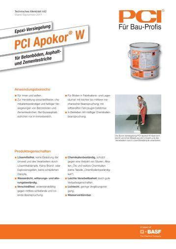 für Betonböden, Asphalt- und Zementestriche - PCI-Augsburg GmbH
