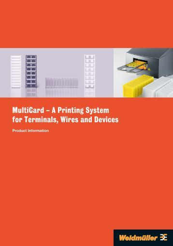 MultiCard – A Printing System for Terminals, Wires and Devices