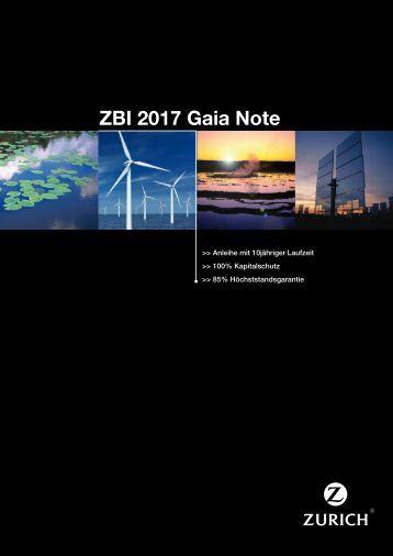 ZBI 2017 Gaia Note