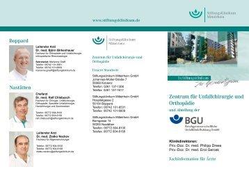 Zentrum für Unfallchirurgie und Orthopädie - Stiftungsklinikum ...