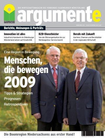 argumente 2009 - Verbund Oldenburger Münsterland