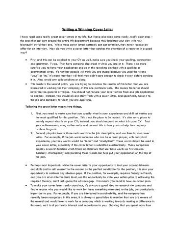 Guide To Writing A Cover Letter  how to write a cover letter to