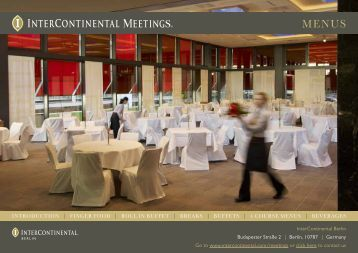 Event Menu - InterContinental Hotels Group