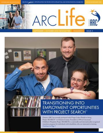 transitioning into employment opportunities with - Ontario ARC