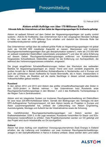 Alstom erhält Aufträge von über 170 Millionen Euro - FDBR
