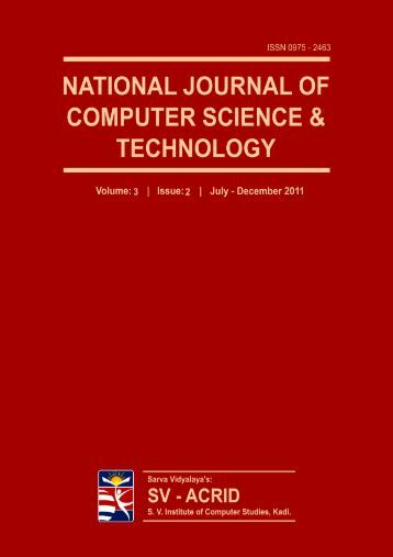 National Journal of Computer Science and Technology - SVICS