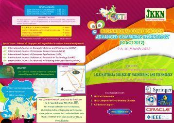 icact 2012 - JKKN Educational Institutions