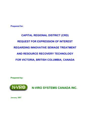 N-VIRO SYSTEMS CANADA INC. - Capital Regional District