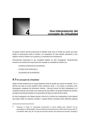 4. Una interpretación del concepto de virtualidad