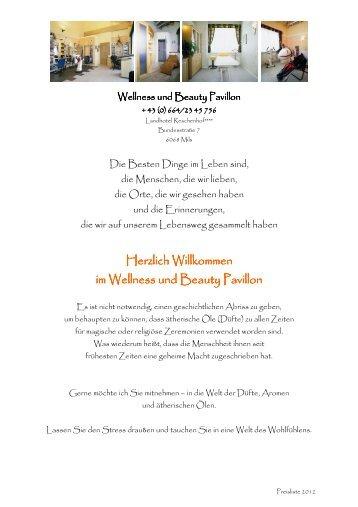 Wellness und Beauty - Landhotel Reschenhof