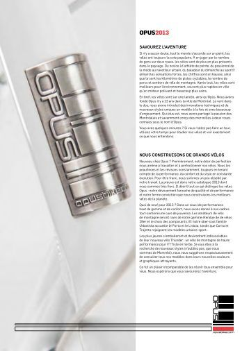 Catalogue 2013 - Opus