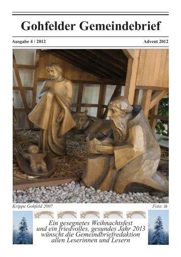 Gohfelder Gemeindebrief - Ev. Kirchengemeinde Gohfeld