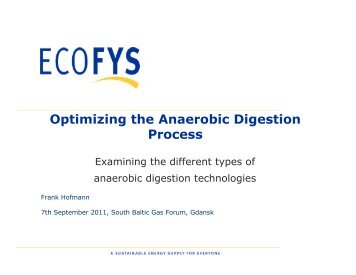 Optimising the Anaerobic Digestion Process