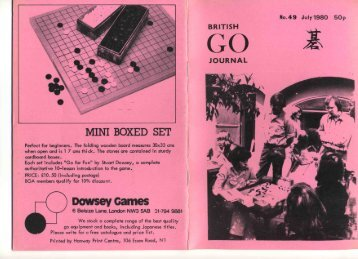 Complete Journal (PDF) - British Go Association